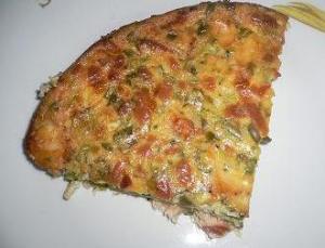 Quiche with salmon