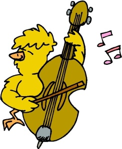 chicken playing_violin_clipart