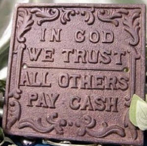 in god we trust sign