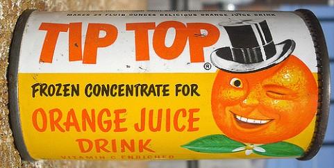 canned orange juice