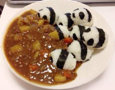 food art baby panda