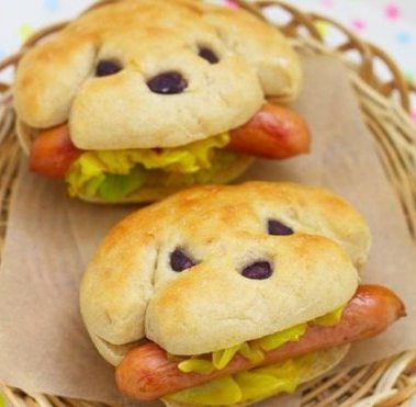 food art hot dogs