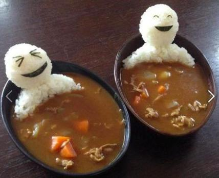 food art men laughing