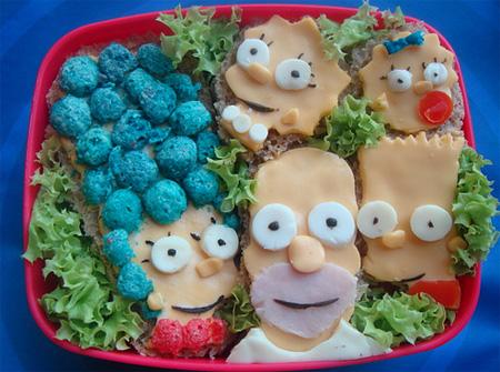 food art simpsons
