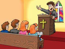 pastor preacing clipart