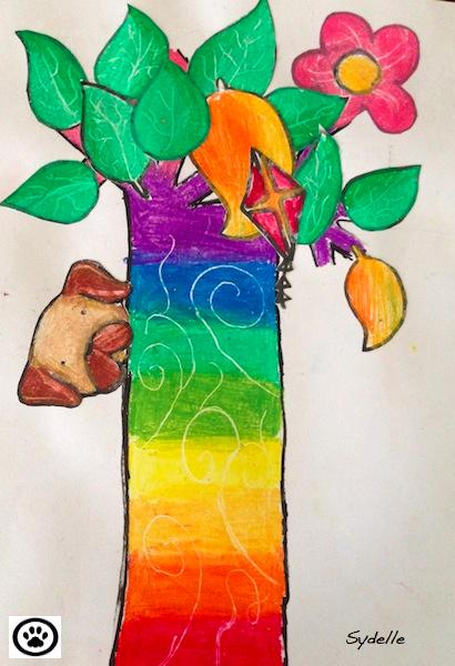 pug-and-magical-tree
