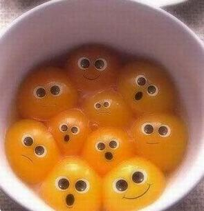 funny egg yolks