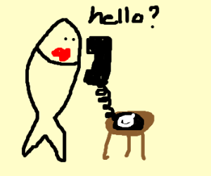 fish and phone