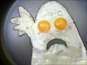 funny fried egg