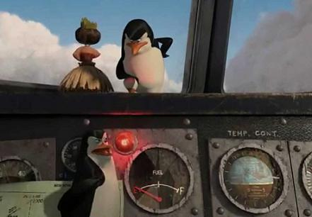 funny penguins on a plane