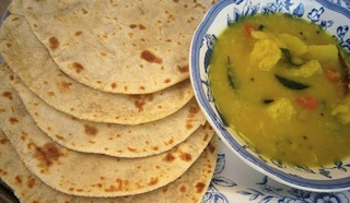 chapati and dhal
