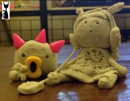 playdough girl and friends