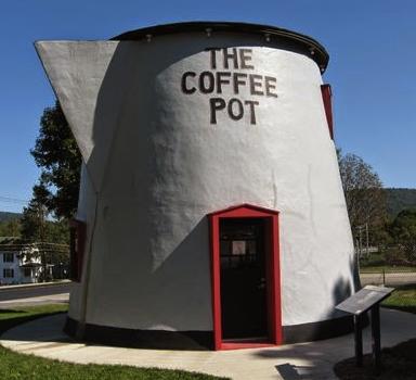 giant coffee pot
