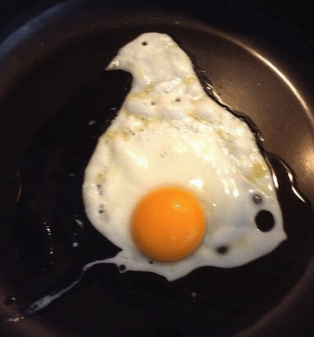 egg on pan
