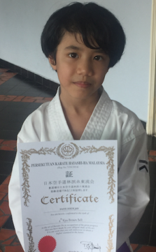 shaye_karate brown belt